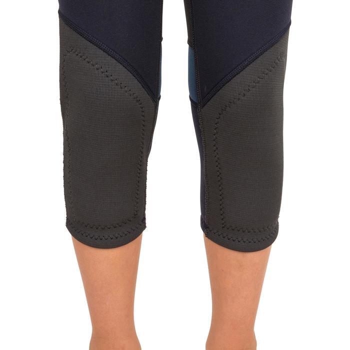 Kids' Dinghy/Catamaran UV-resistant 1 mm Neoprene Wetsuit - Dark Blue/Orange - 1291380