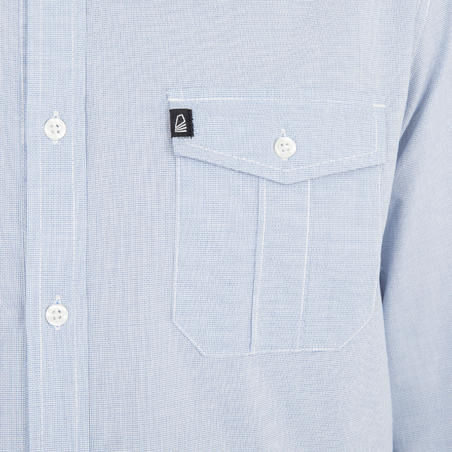 Men's sailing shirt 100 - blue
