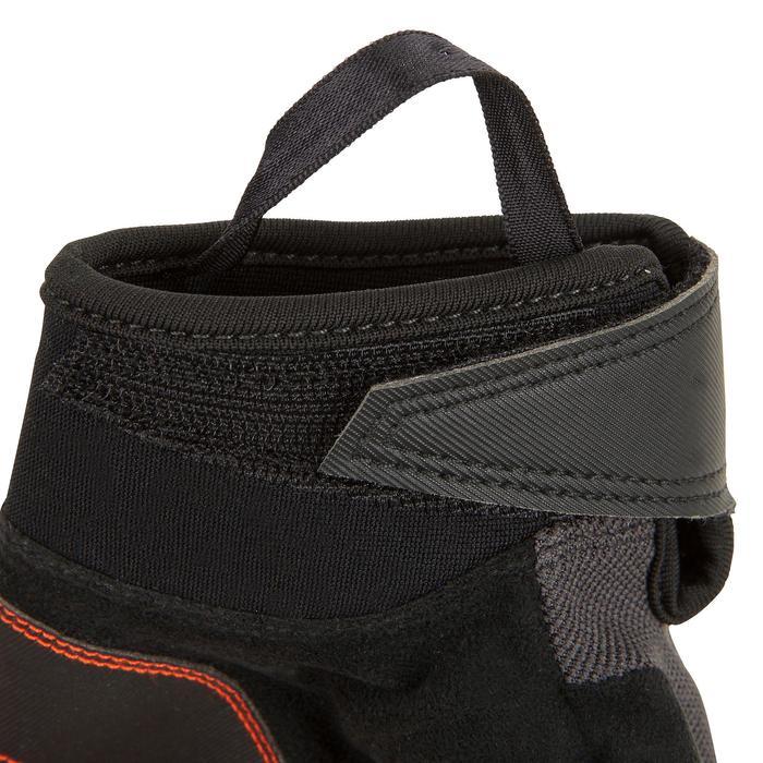 Segel-Handschuhe halbhand 500 Erwachsene schwarz