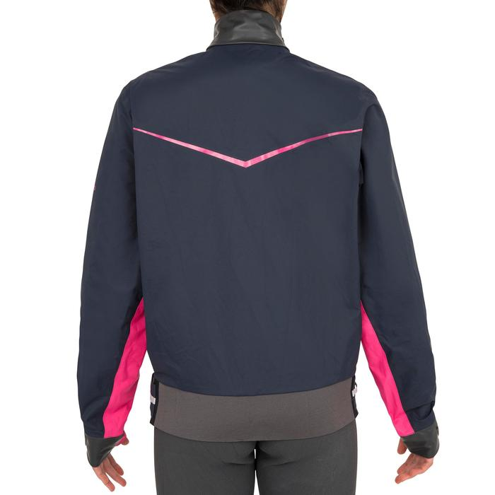 Segeljacke Dinghy 500 winddicht Damen dunkelblau/rosa