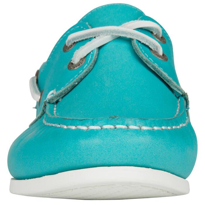 Calzado náutico de cuero mujer Cruise 500 azul marino Tribord ... d4d835a648b