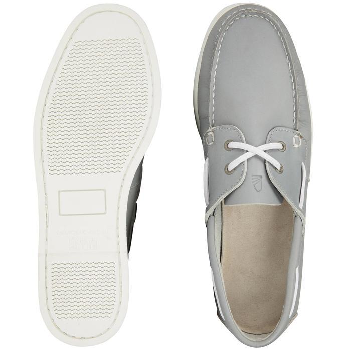 Zapatos náuticos adherentes hombre CRUISE 500 marrón blanco Tribord ... 351ef65c20a