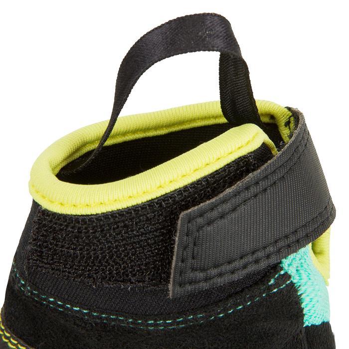 Segelhandschuhe Sailing 500 Kinder grün/schwarz