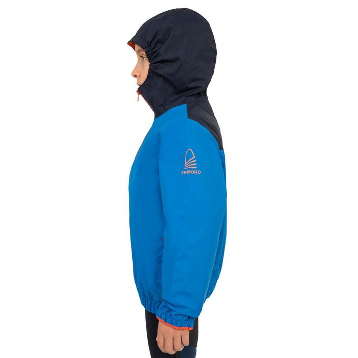 Segeljacke Dinghy 100 winddicht Kinder electric-blau