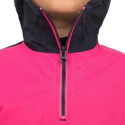 Windbestendige spraytop kinderen Zeilen Dinghy 100 roze/blauw