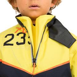 Vareuse coupe-vent Voile enfant Dinghy 500 bleu foncé/jaune