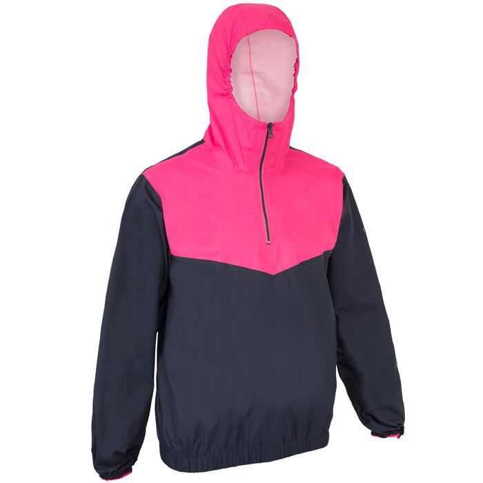 Segeljacke Dinghy 100 winddicht Erwachsene blau/rosa