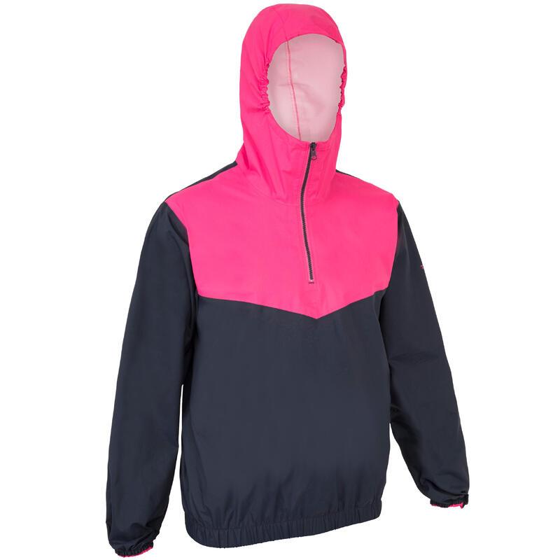 Adult Windproof Sailing Smock Dinghy 100 - blue/pink