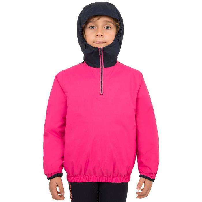 Segeljacke Dinghy 100 winddicht Kinder blau/rosa