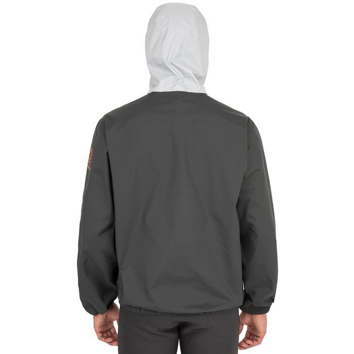 Segeljacke Dinghy 100 winddicht Jolle/Katamaran Erwachsene dunkelgrau/hellgrau
