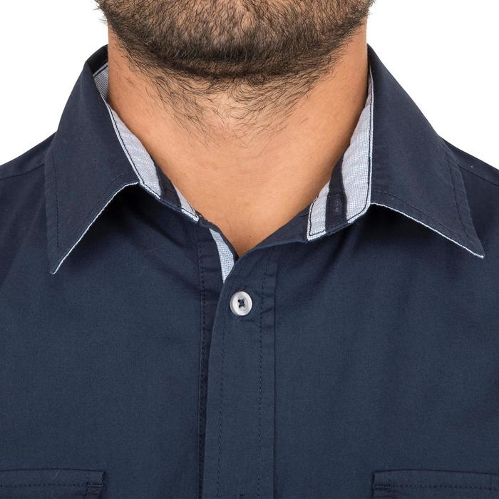 Camisa marinera 100 hombre Azul oscuro