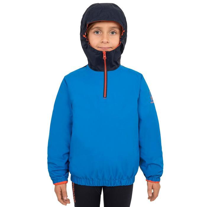 Segeljacke Dinghy 100 winddicht Kinder electric-blau