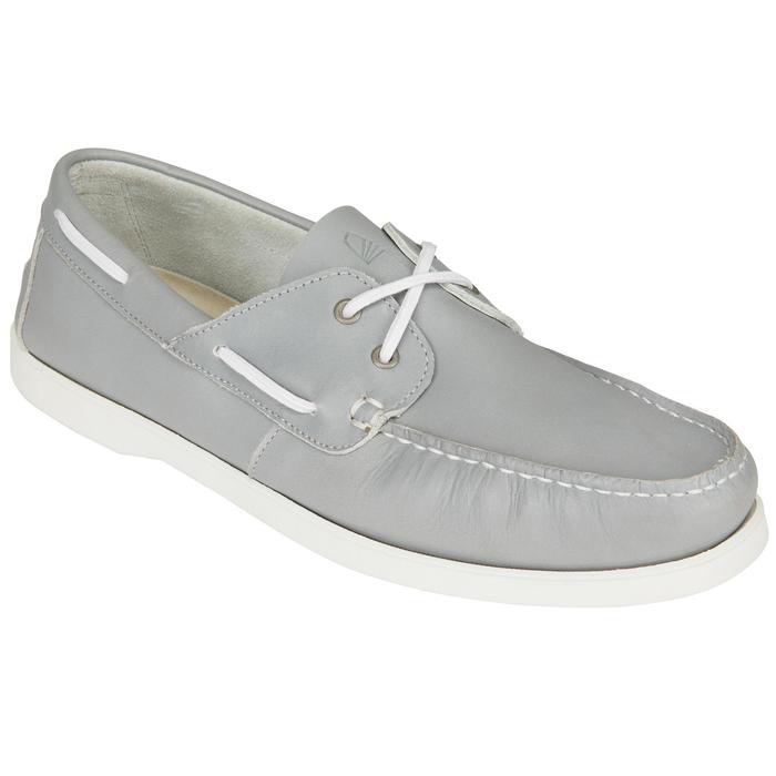 Zapatos náuticos adherentes hombre CRUISE 500 marrón blanco Tribord ... af926e45462