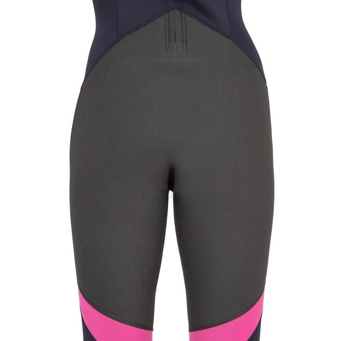 Neoprenanzug Dinghy 500 UV-Schutz 1mm Jolle/Katamaran Damen dunkelblau/rosa