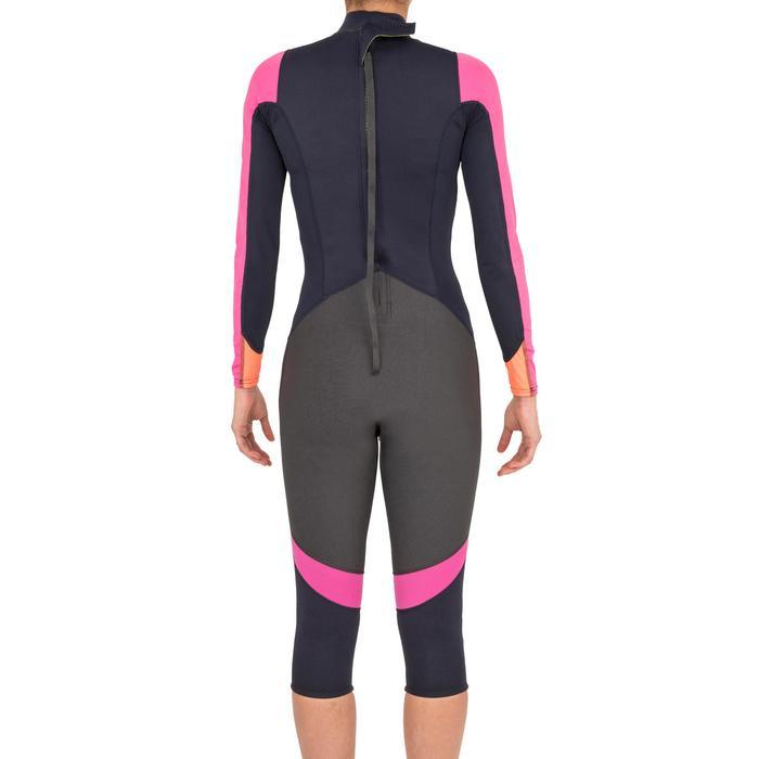 Neoprenanzug 1mm mit UV-Schutz Segeln Jolle/Katamaran Damen dunkelblau/rosa