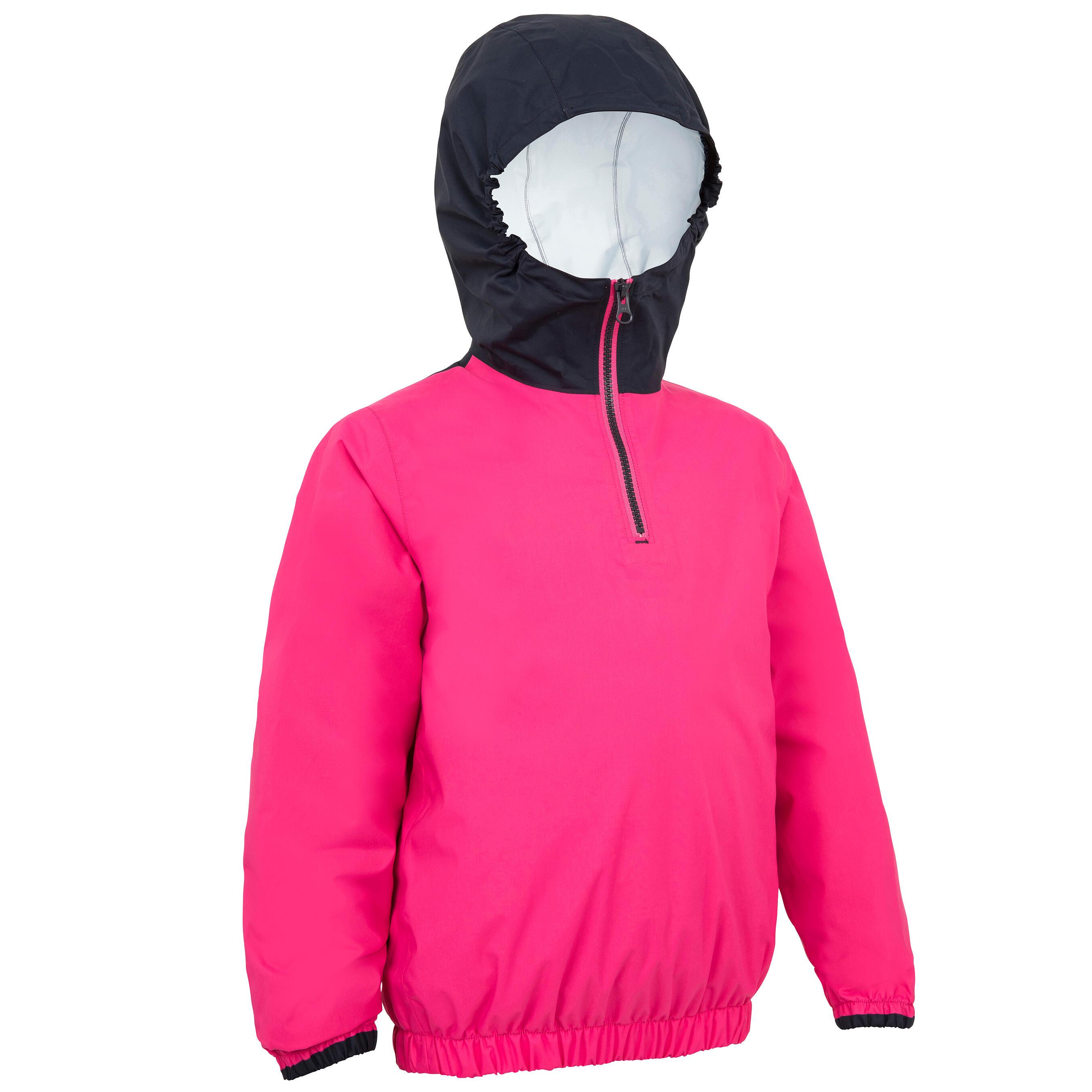 Tribord Windbestendige spraytop Zeilen voor kinderen Dinghy 100 roze/blauw