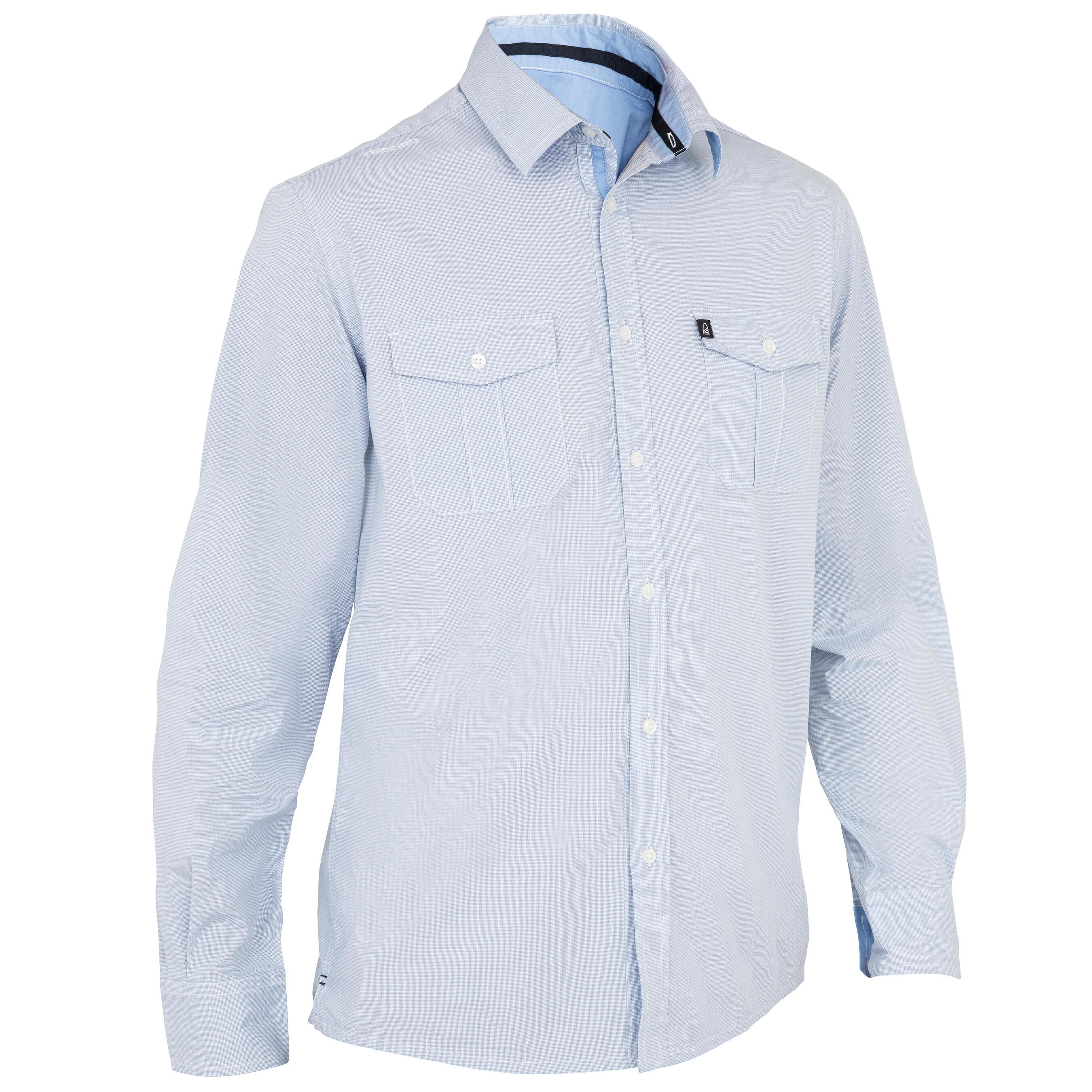 Overhemd Kopen Heren.Tribord Heren Overhemd 100 Voor Zeilen Blauw Kopen Met Voordeel