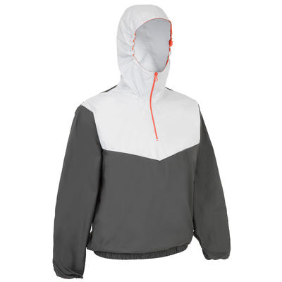 100 Adult Dinghy/Catamaran Windproof Sailing Anorak - Dark Grey/Light Grey