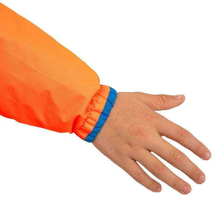 Segeljacke S 100 Jolle/Katamaran winddicht Kinder orange/blau