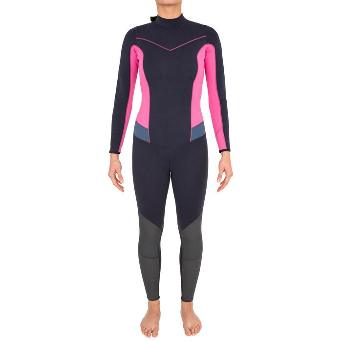 Neoprenanzug Dinghy 500 UV-Schutz 3/2mm Jolle/Katamaran Damen dunkelblau/rosa