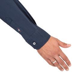 Overhemd voor zeilen heren 100 donkerblauw