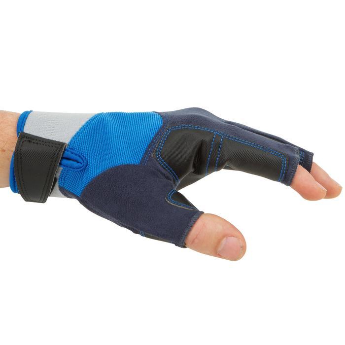 Zeilhandschoenen voor volwassenen 500 blauw/grijs