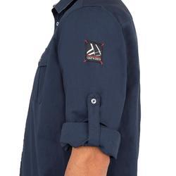 Chemise bateau homme SAILING 100 bleu foncé