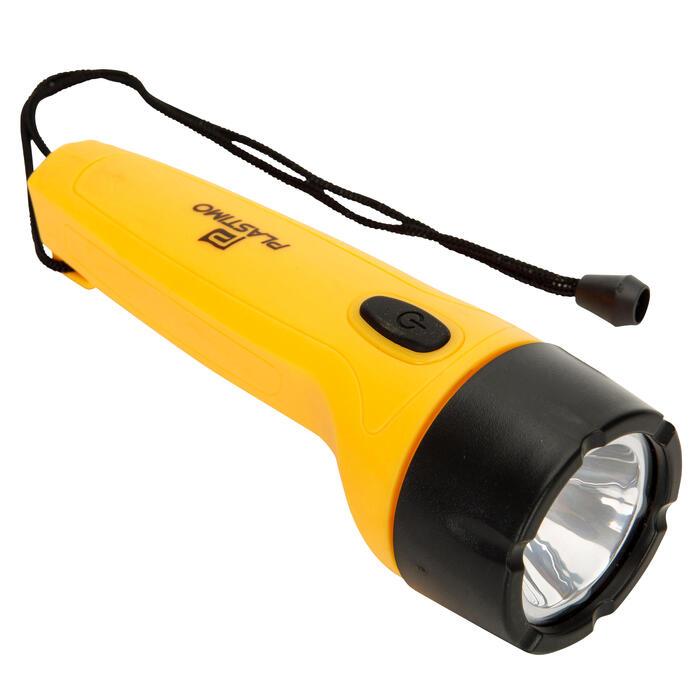 Waterdichte 2-in-1 zaklamp voor boot geel - 1291531