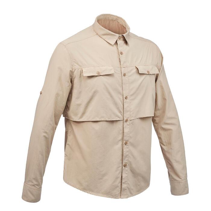 Chemise manches longues de Trekking désert DESERT 500 homme beige - 1291539