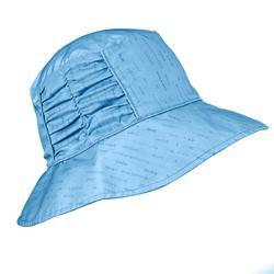 女遮陽雙面登山健行帽 Trek 500 - 藍色