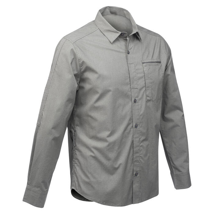Chemise manches longues TRAVEL 500 MODUL Homme - 1291549