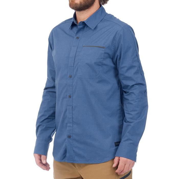 7d0c4afef5 Camisa de manga larga trekking TRAVEL500 TRANSFORMABLE Hombre azul ...