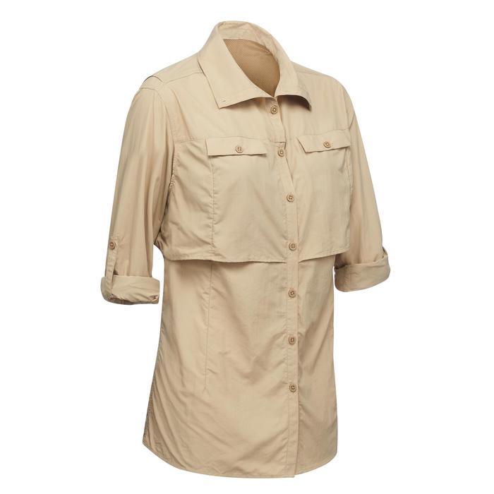 Chemise manches longues de Trekking désert DESERT 500 femme beige - 1291564