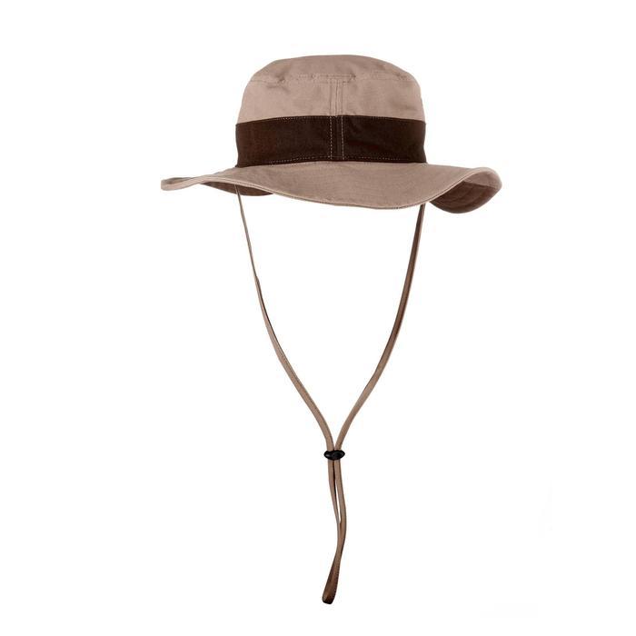 Sombrero de trekking en montaña TREK 100 marrón
