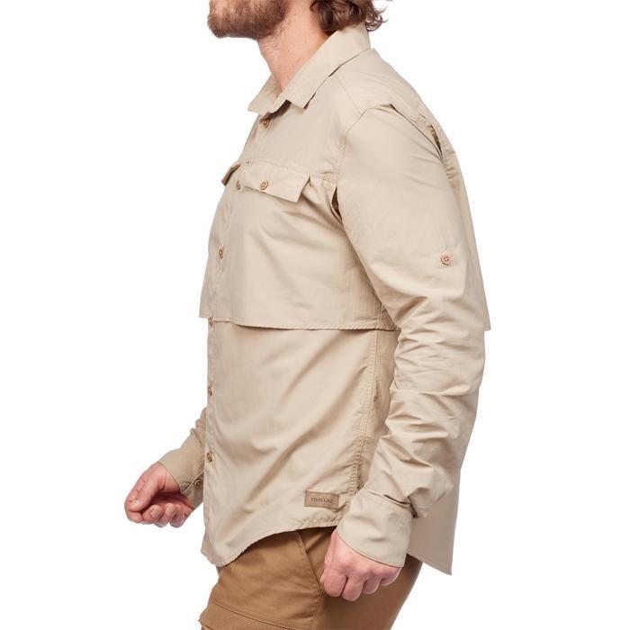 Chemise manches longues de Trekking désert DESERT 500 homme beige - 1291593