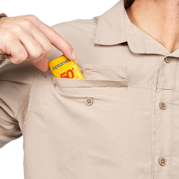 Chemise manches longues de Trekking désert anti-UV - DESERT 500 homme beige