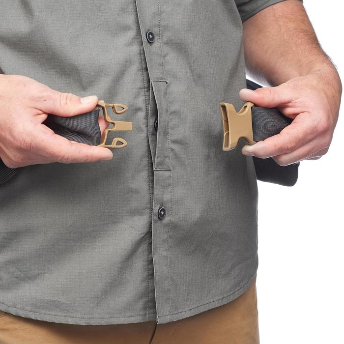 Chemise de trek voyage - TRAVEL 500 MODUL manches longues kaki homme