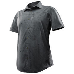 Camisa de manga corta TRAVEL 100 FRESH HOMBRE GRIS ESTAMPADO