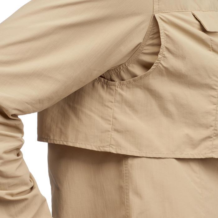 Camisa de manga larga de trekking en el desierto DESERT 500 mujer beige