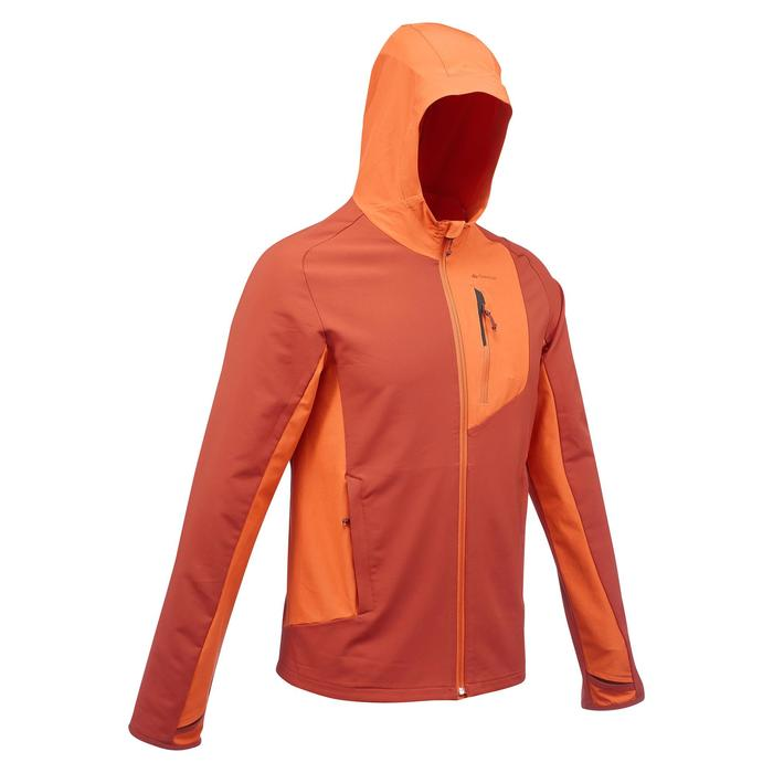 Windjack voor bergtrekking Trek 900 heren oranje