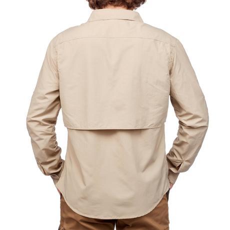 de désert Chemise Trekking manches homme DESERT 500 beige longues 4aqwPZE