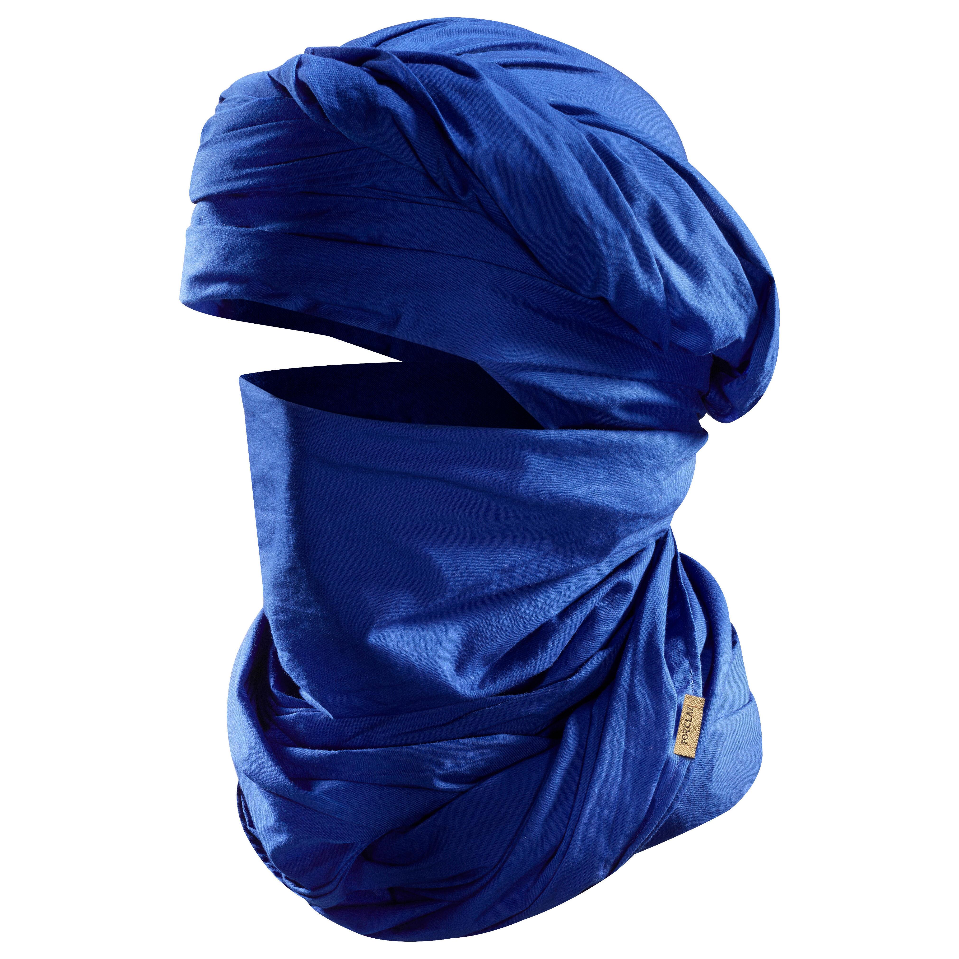 Forclaz Sjaal voor woestijntrekking Desert 500 blauw