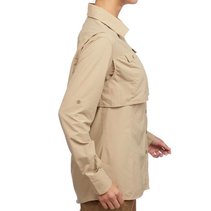 Chemise manches longues de Trekking désert DESERT 500 femme beige - 1291738