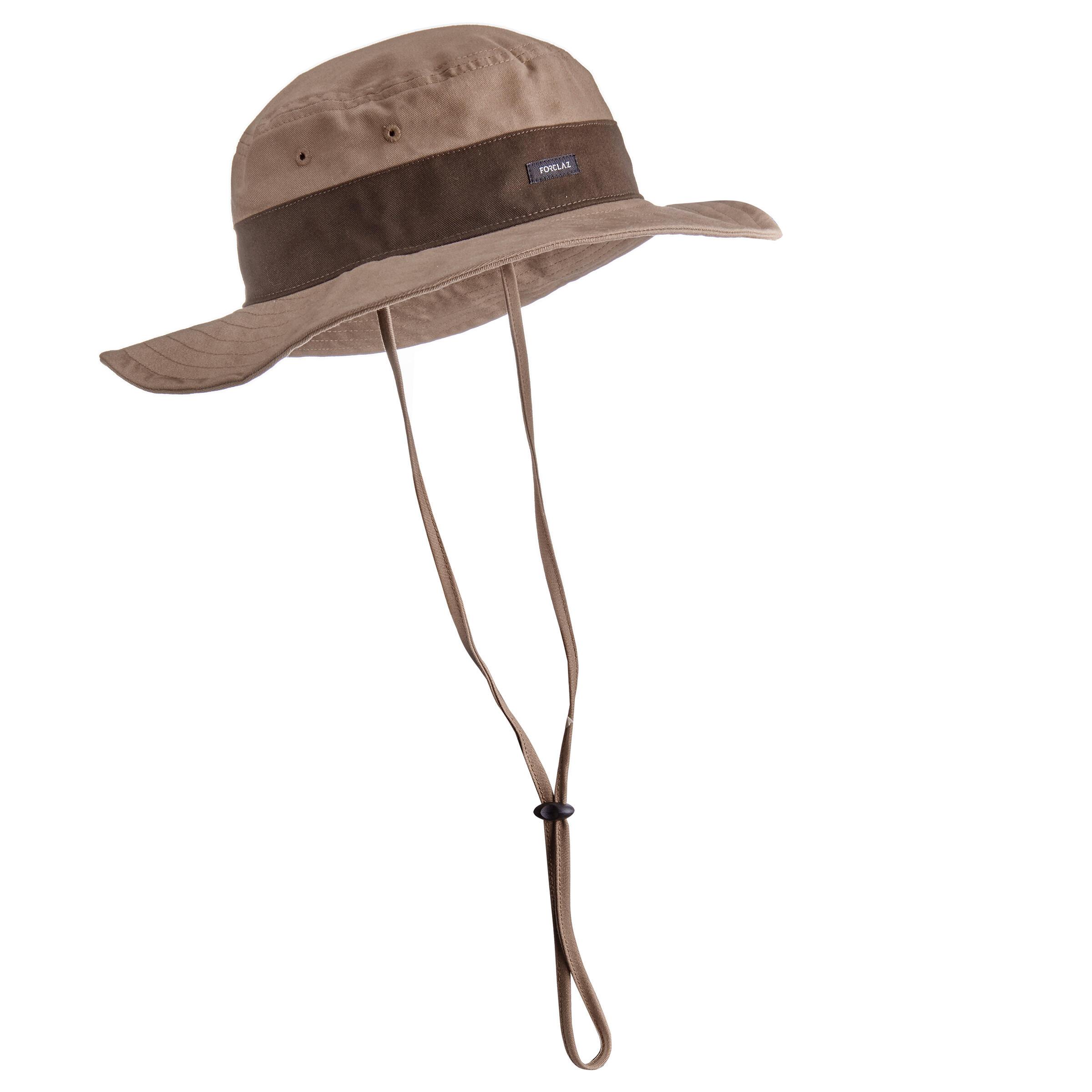 Sombrero de trekking en montaña TREK 100 marrón Forclaz  1c9da0c36f9