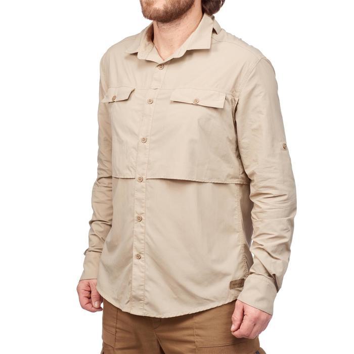 Chemise manches longues de Trekking désert DESERT 500 homme beige - 1291761