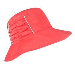 CN Women's reversible Mountain Trekking sun hat TREK 500 - Beige Pink