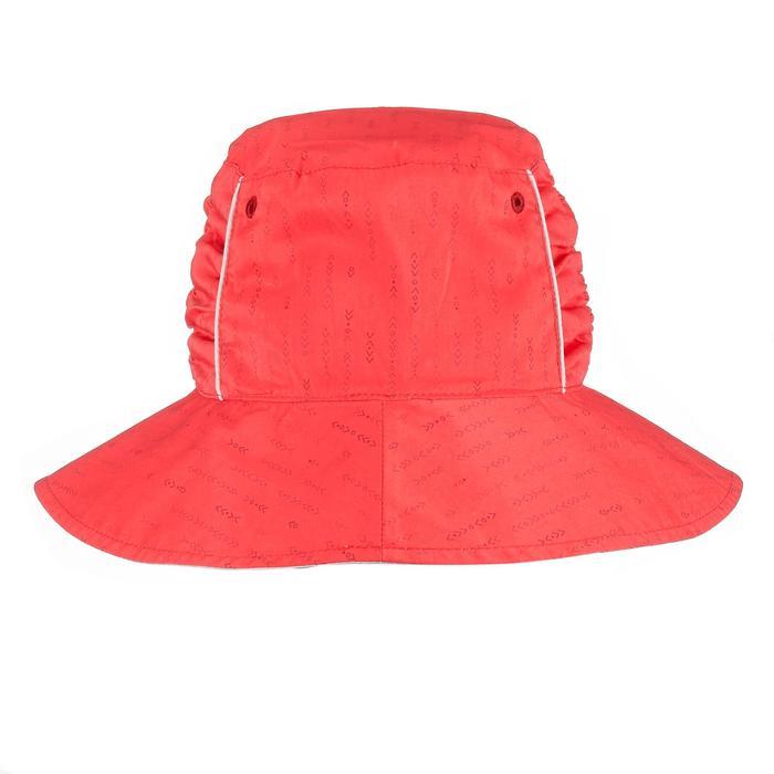 女款登山健行雙面遮陽帽Trek 500-米色或粉紅色