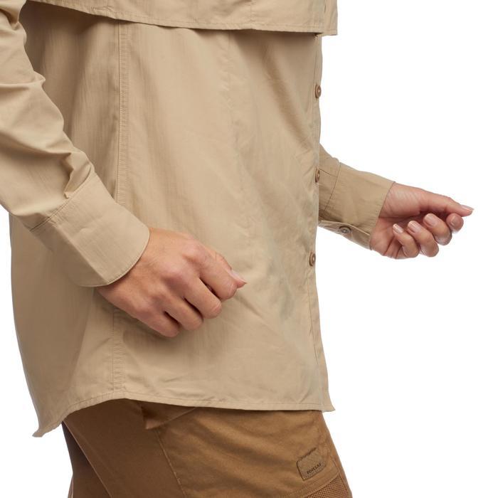 Chemise manches longues de Trekking désert DESERT 500 femme beige - 1291785
