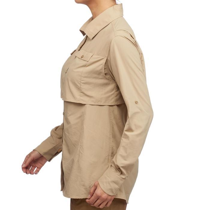 Chemise manches longues de Trekking désert DESERT 500 femme beige - 1291796
