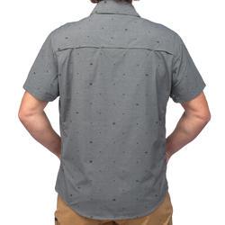 Travel 100 Fresh Men's Short-Sleeved Shirt - Grey Print